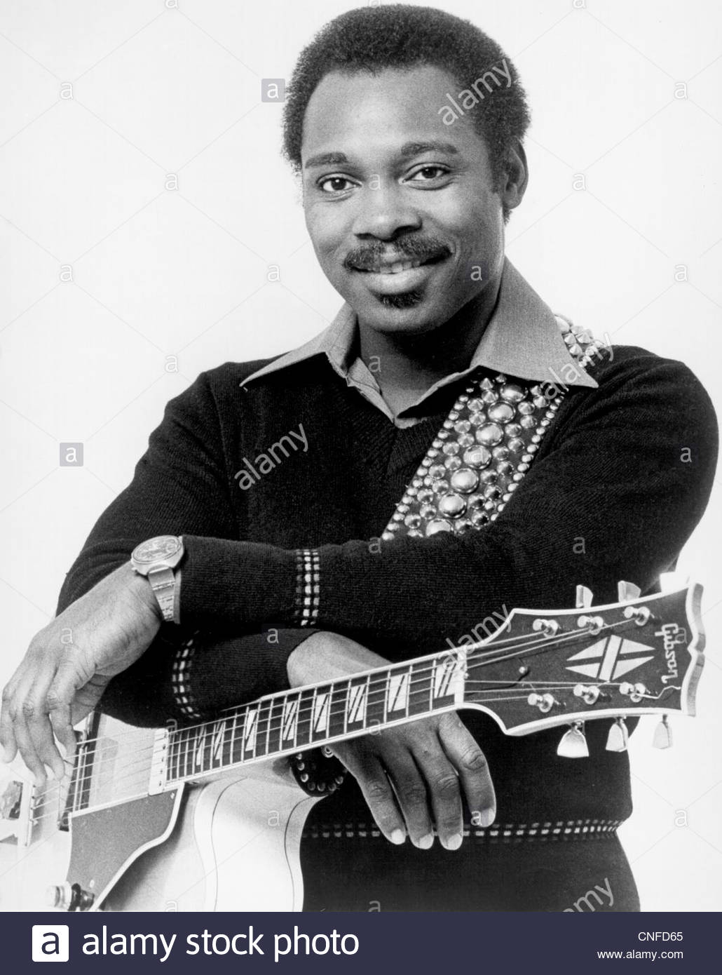 George Benson poses for a portrait, circa late 1970's.  Photo Courtesy Granamour Weems Collection - Stock Image