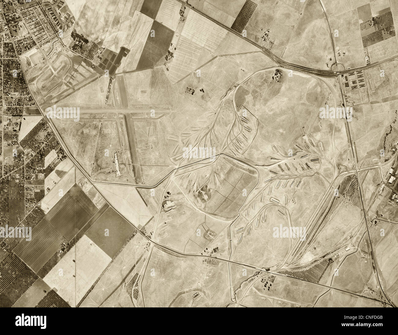historical aerial photograph Concord California 1946 - Stock Image