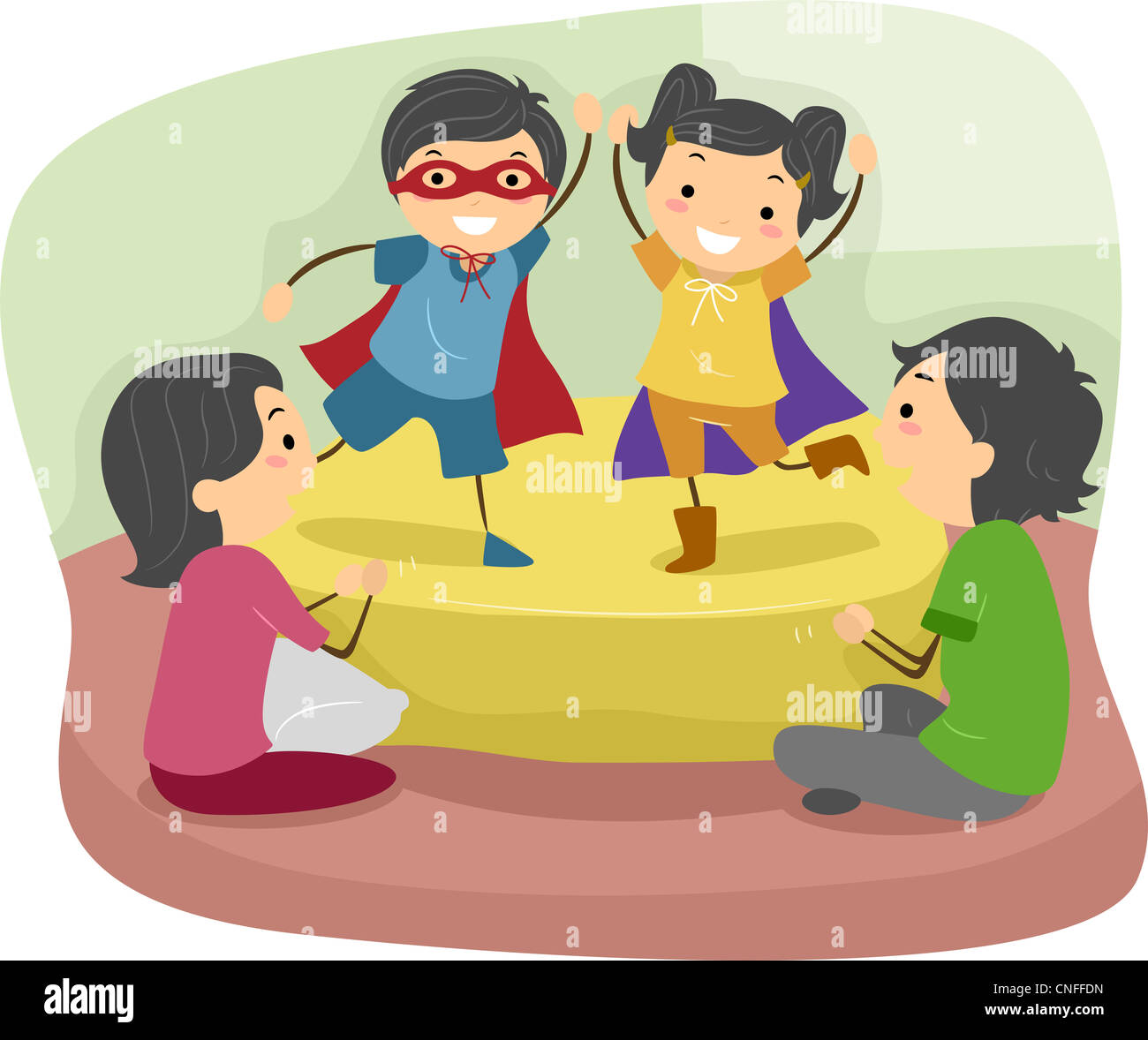 Illustration of Kids Doing a Role Play in Front of their