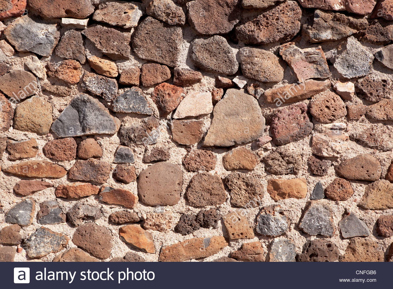 Texture Background rock wall - Stock Image