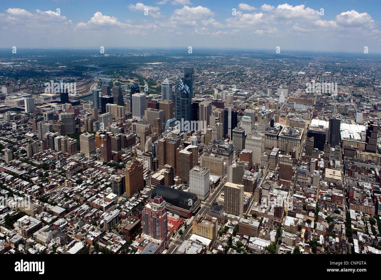 aerial photograph of Philadelphia, Pennsylvania - Stock Image