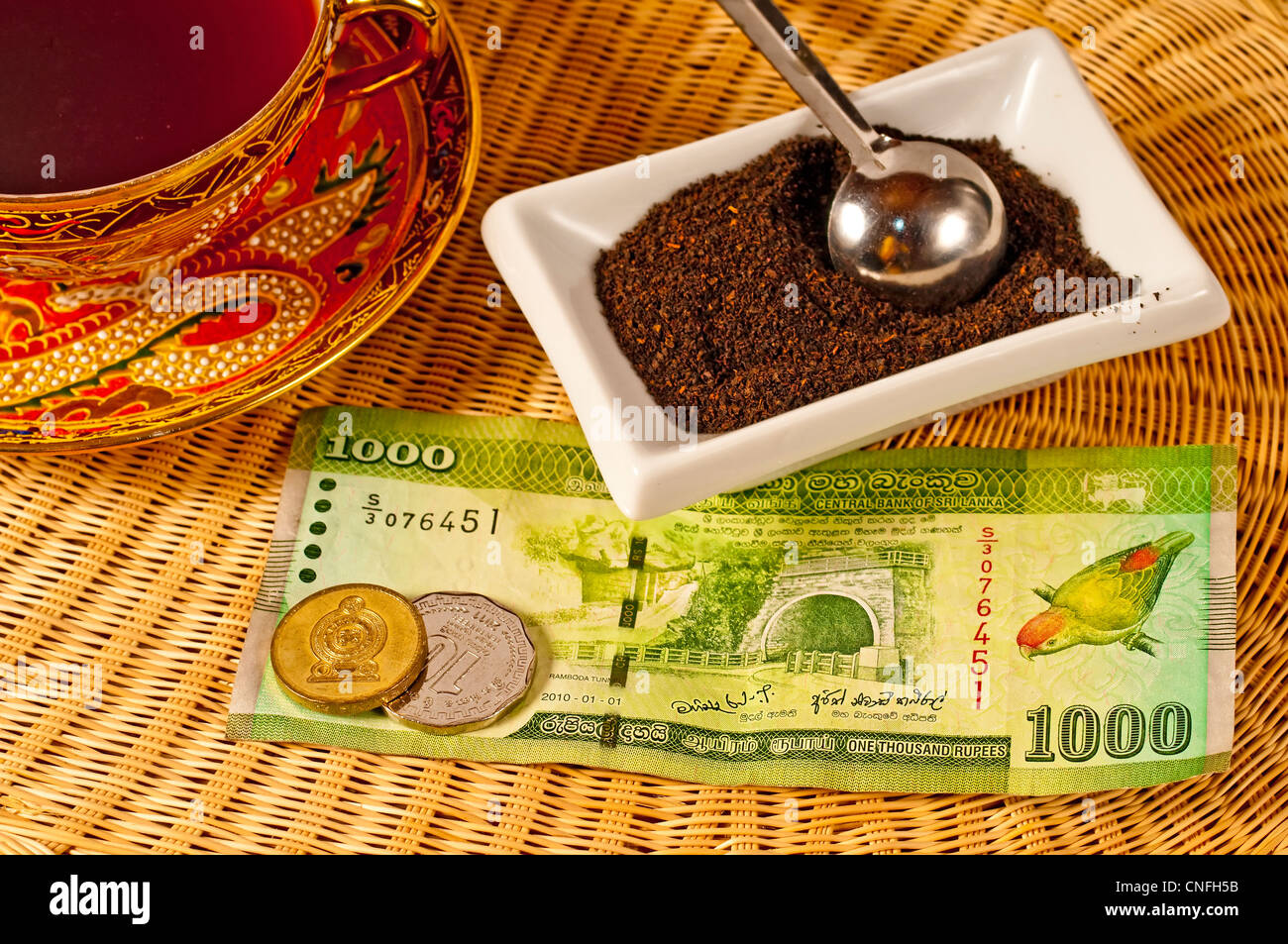 black tea of Ceylon - Stock Image