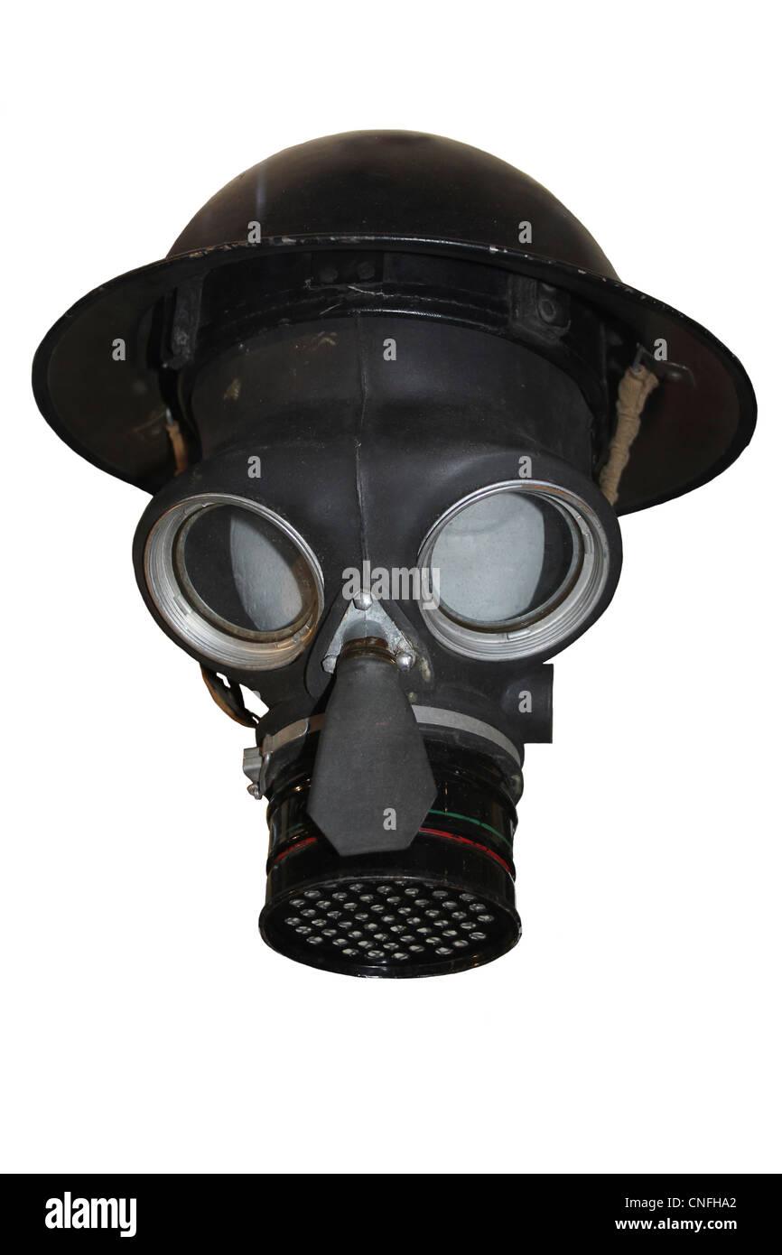 World War II Gas Mask - Stock Image