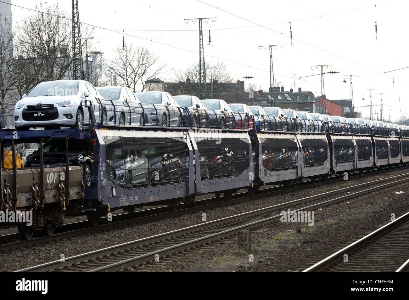 citroen cars being imported into germany by rail stock photo 47671896 alamy. Black Bedroom Furniture Sets. Home Design Ideas