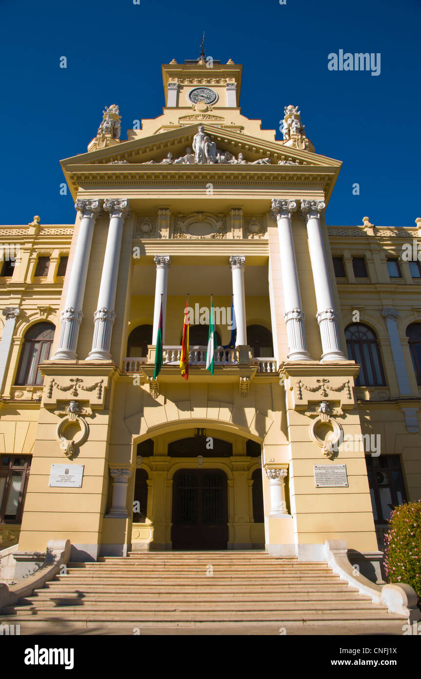 Ayuntamiento the city hall (1919) Malaga Andalusia Spain Europe - Stock Image
