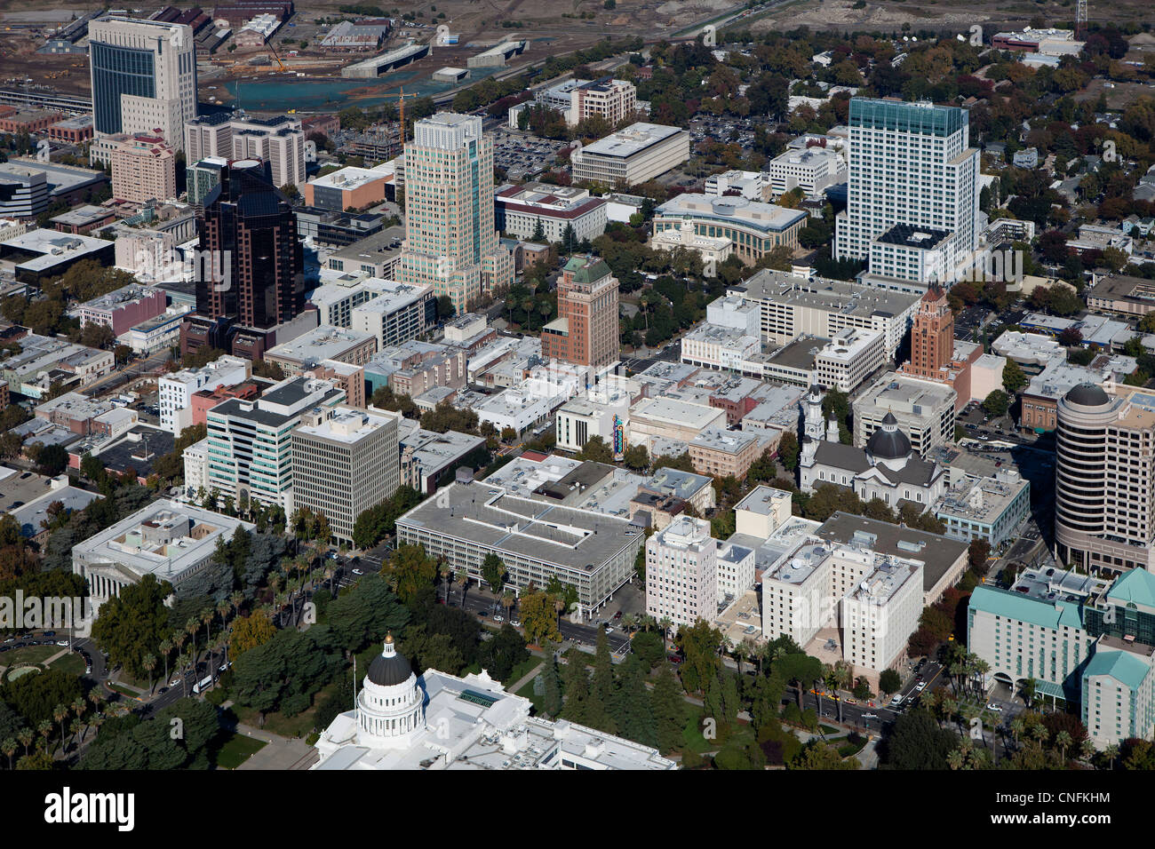 aerial photograph Sacramento, California - Stock Image