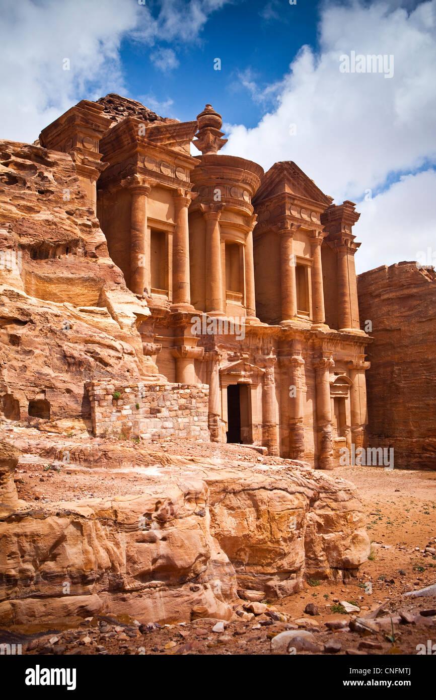 The Monastery (Al-Deir), Petra, Jordan, Western Asia - Stock Image