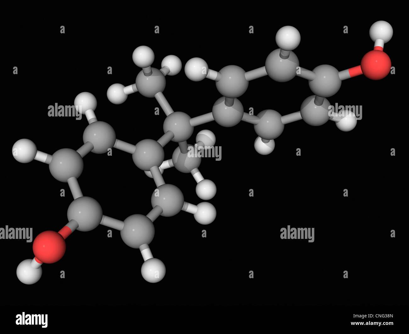 Bisphenol A molecule - Stock Image