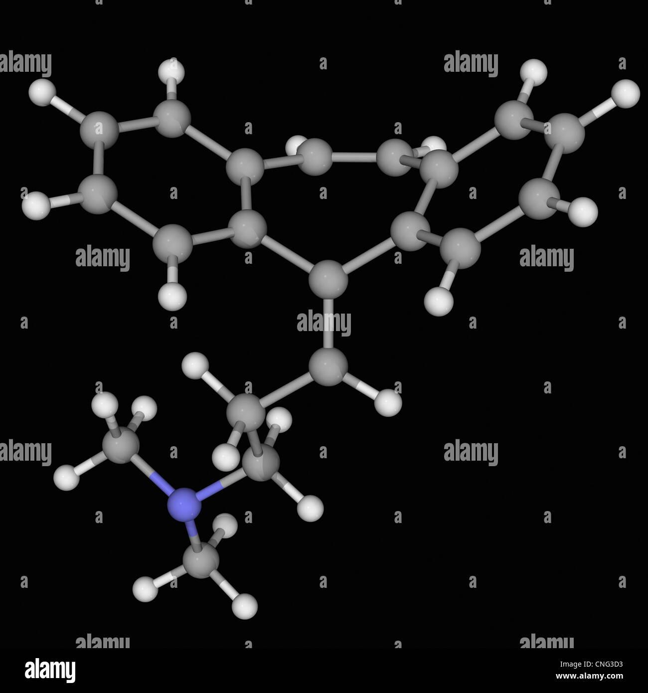 Cyclobenzaprine drug molecule Stock Photo