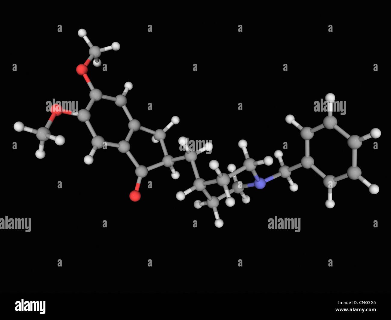 Donepezil drug molecule Stock Photo