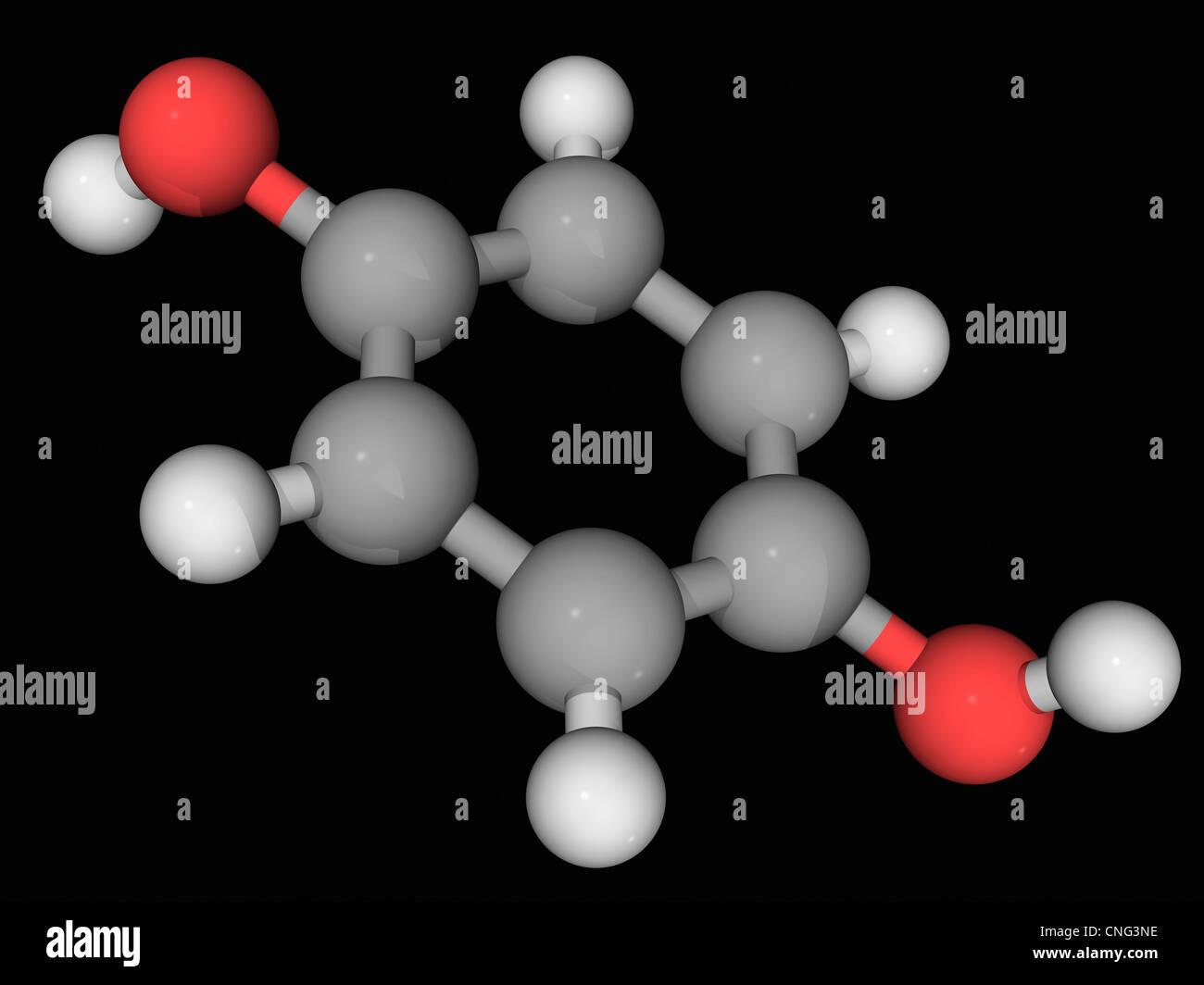 Hydroquinone molecule - Stock Image