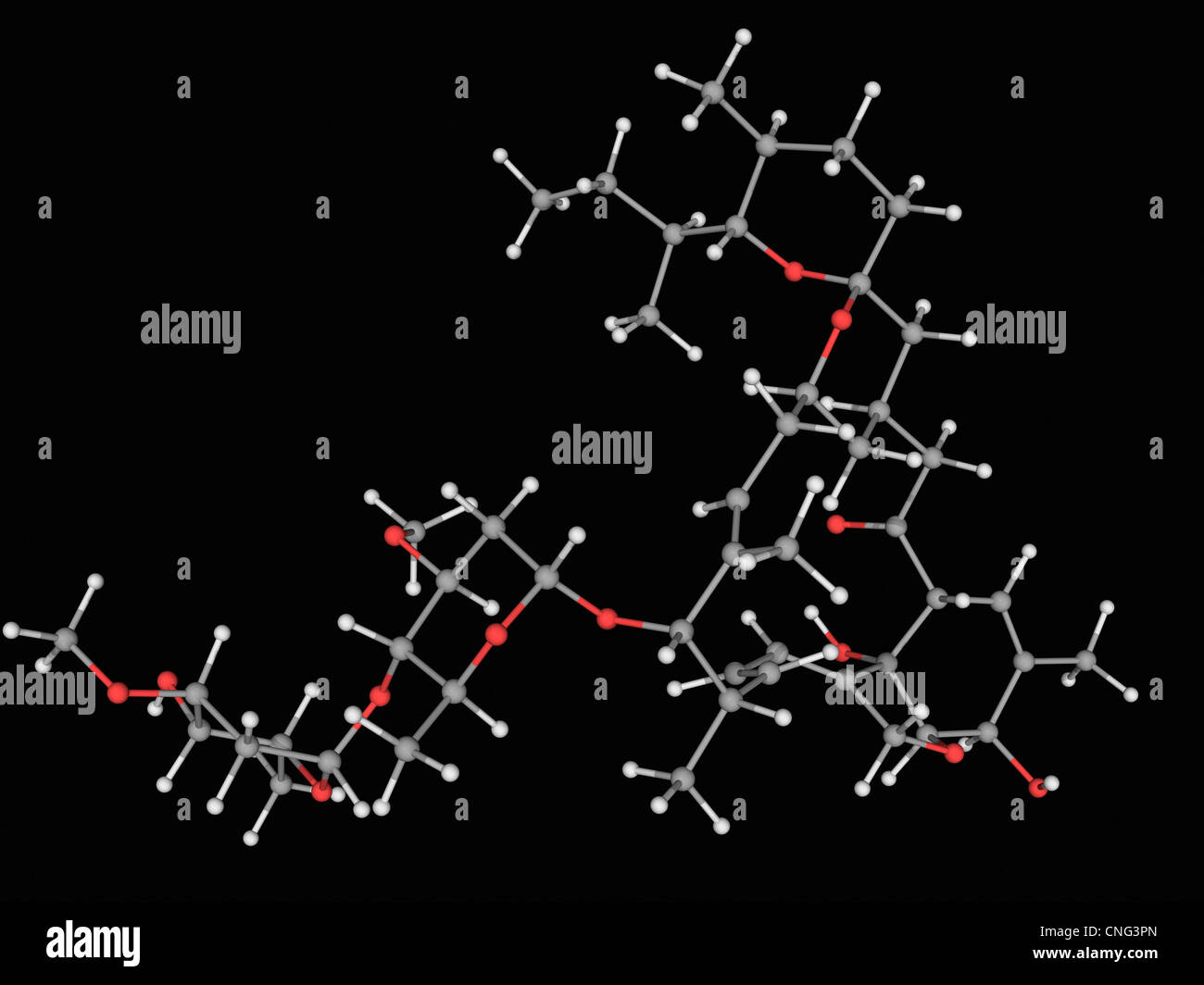 Ivermectin drug molecule - Stock Image