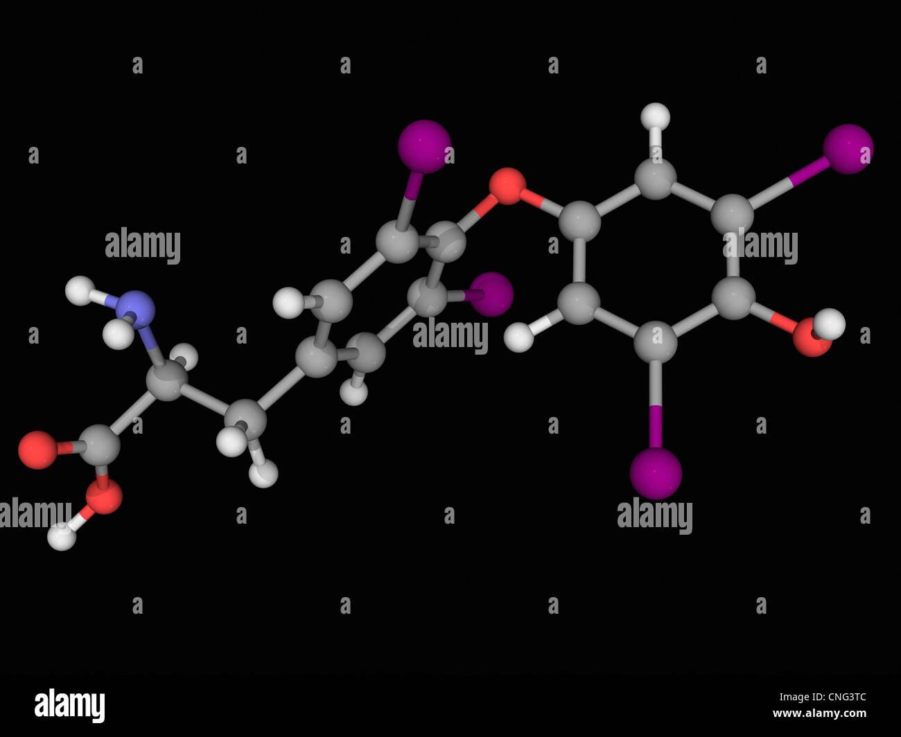 Levothyroxine drug molecule Stock Photo