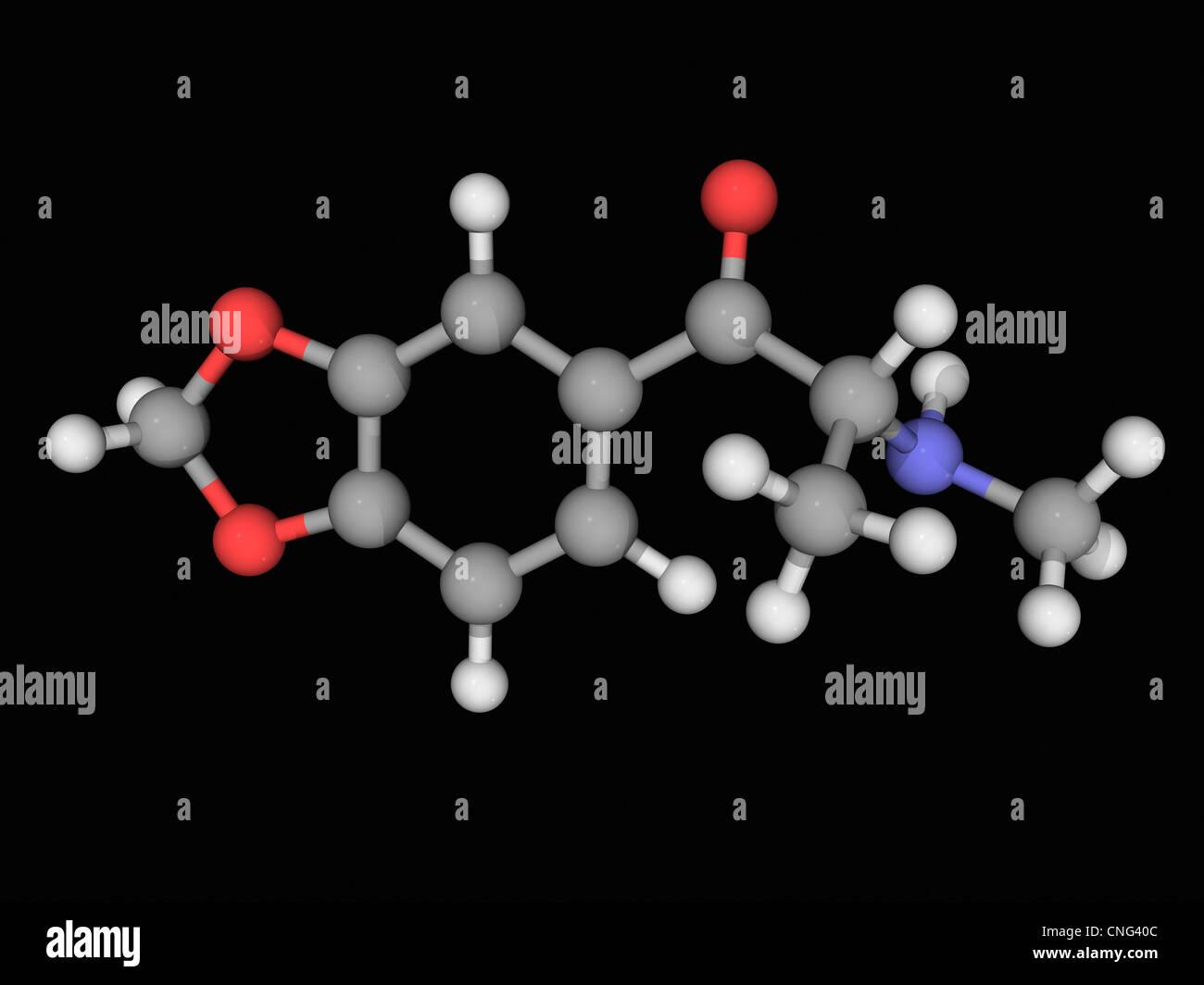 Methylone drug molecule - Stock Image