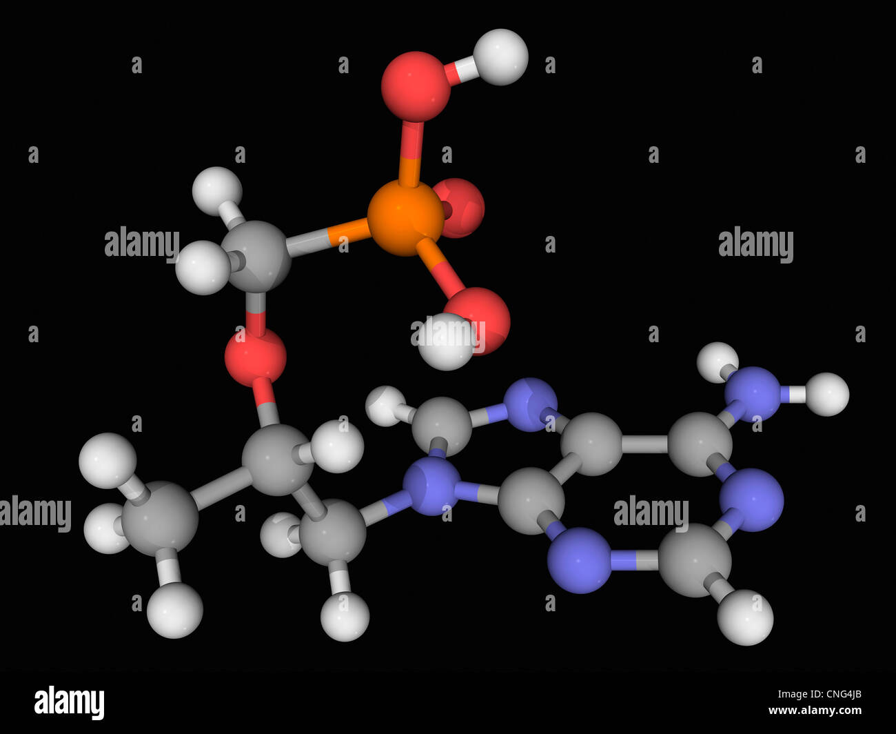 Tenofovir drug molecule - Stock Image