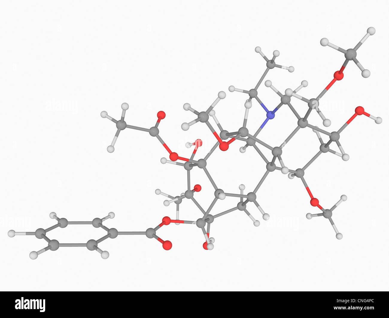 Aconitine poison molecule - Stock Image