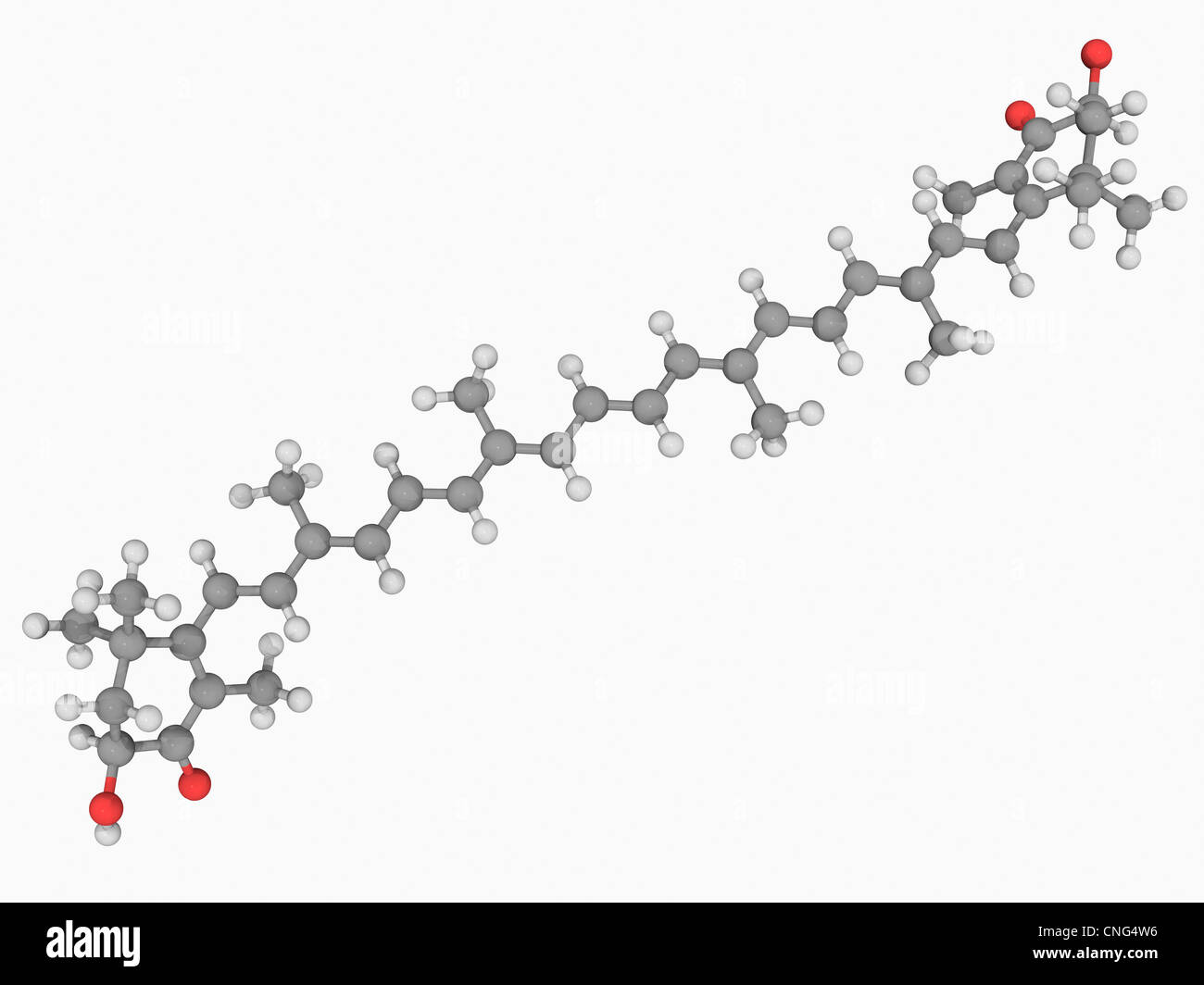 Astaxanthin molecule - Stock Image