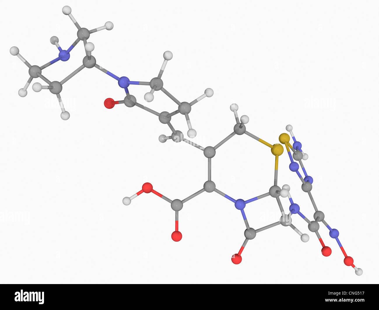 Ceftobiprole drug molecule - Stock Image