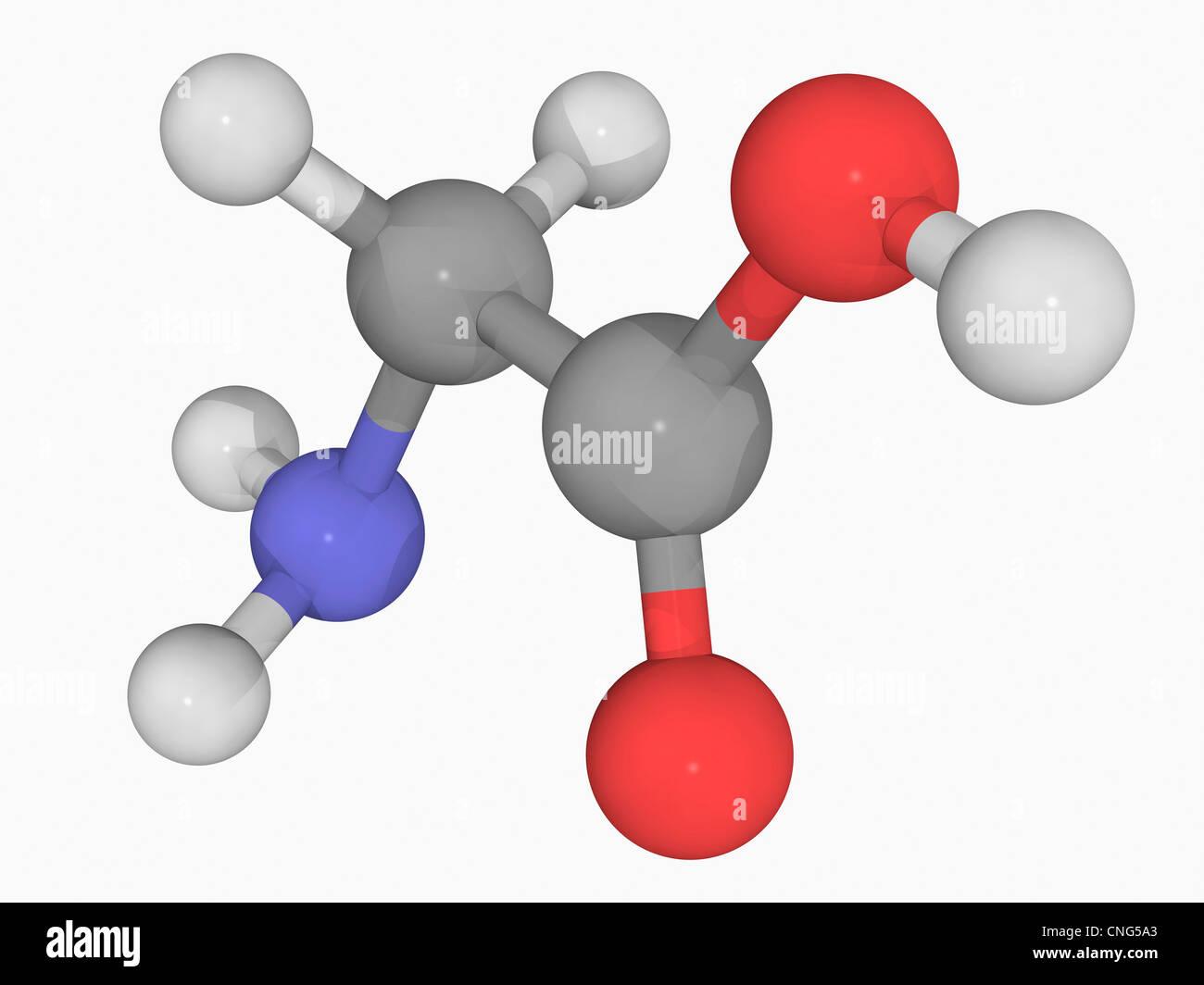 Glycine molecule - Stock Image