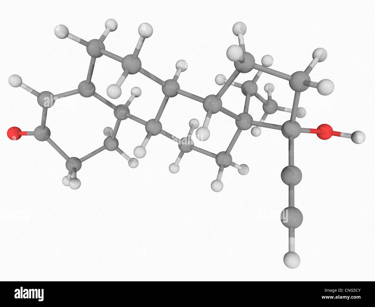 Levonorgestrel drug molecule - Stock Image