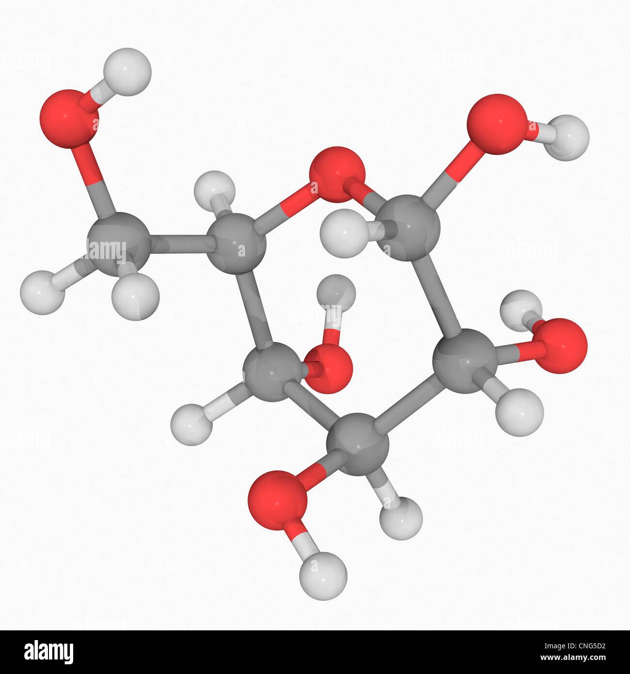 L-glucose molecule - Stock Image