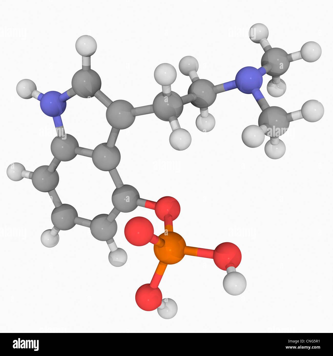 Psilocybine drug molecule - Stock Image
