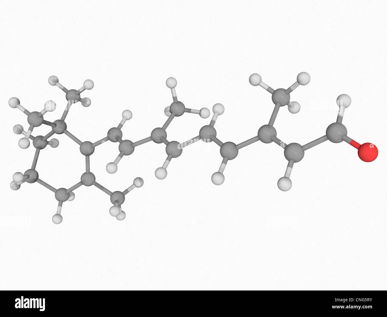Retinal (vitamin A) molecule - Stock Image