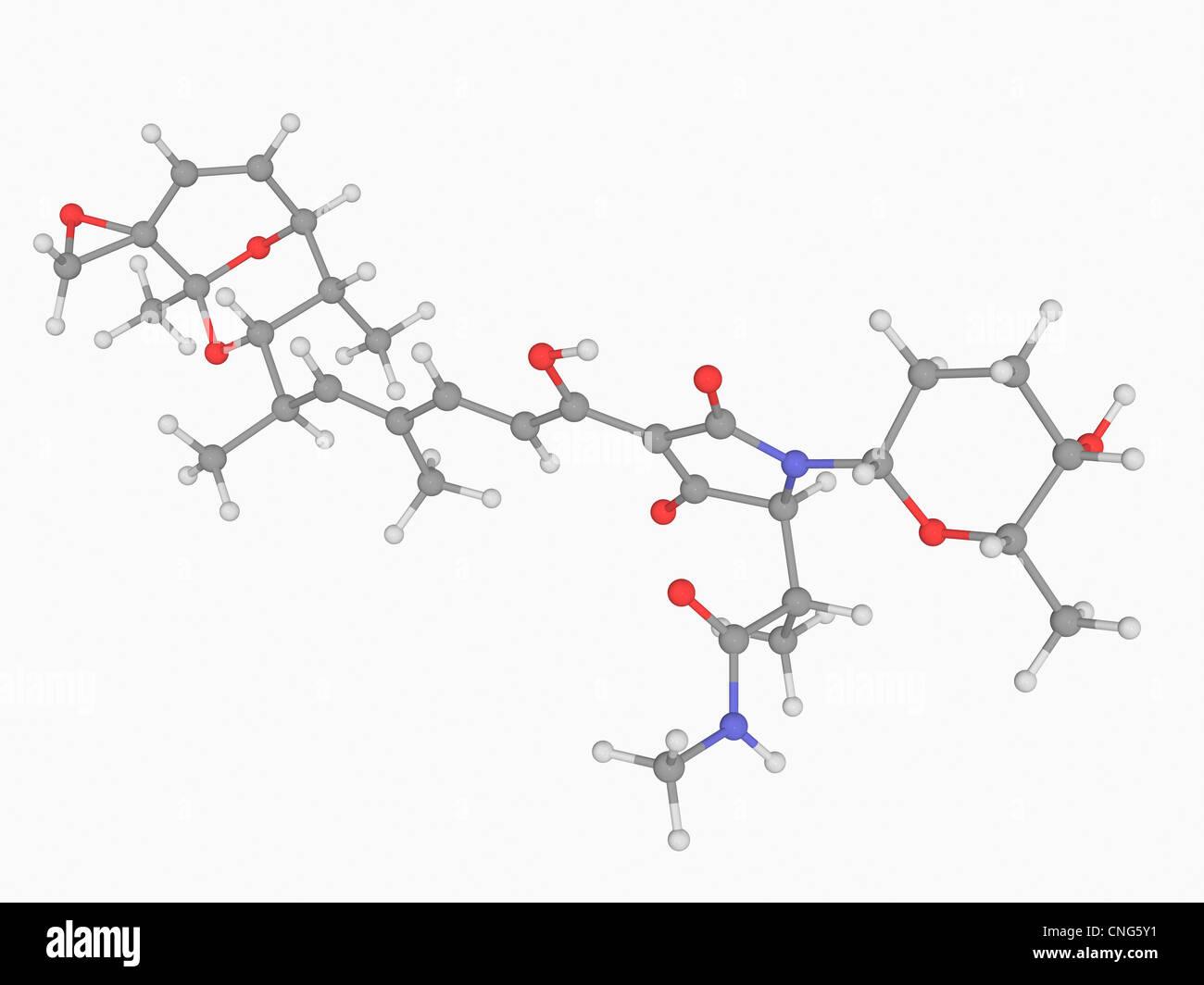 Streptolydigin drug molecule - Stock Image