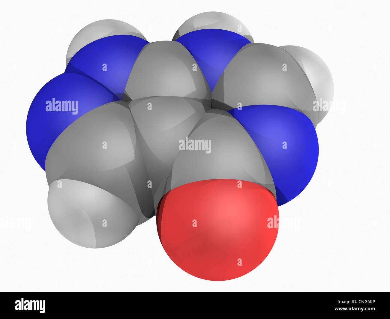 Allopurinol drug molecule - Stock Image