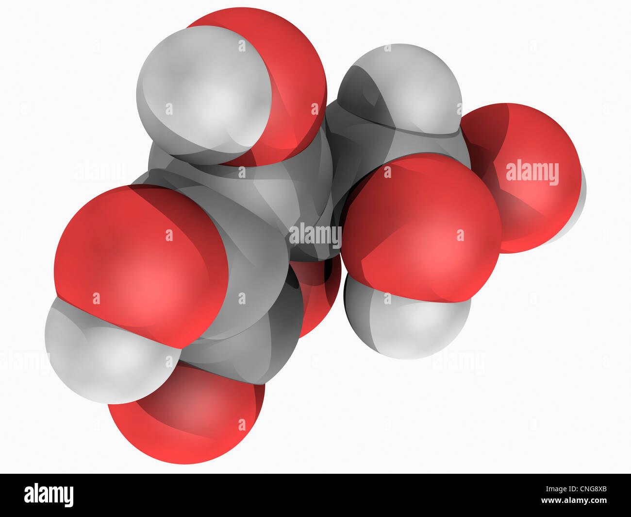 Vitamin C (ascorbic acid) molecule - Stock Image