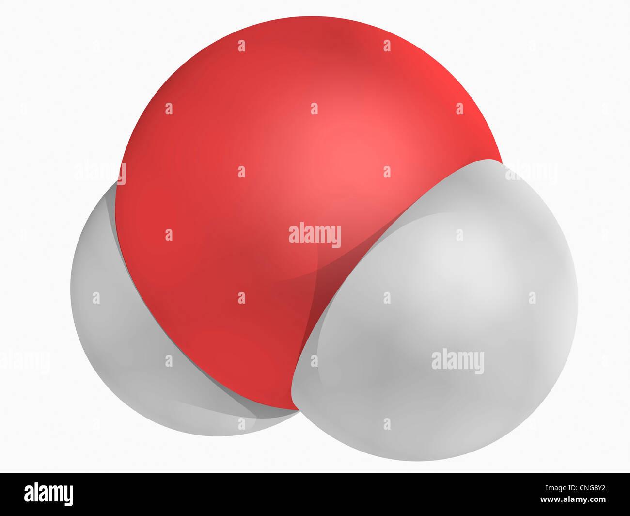 Water molecule - Stock Image
