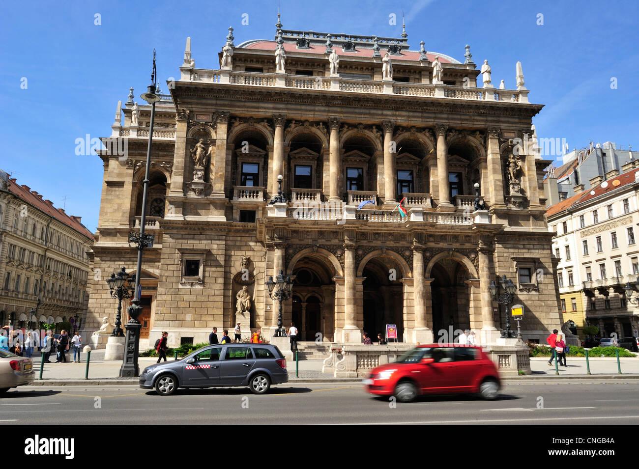 Hungarian State Opera, Budapest, Hungary - Stock Image