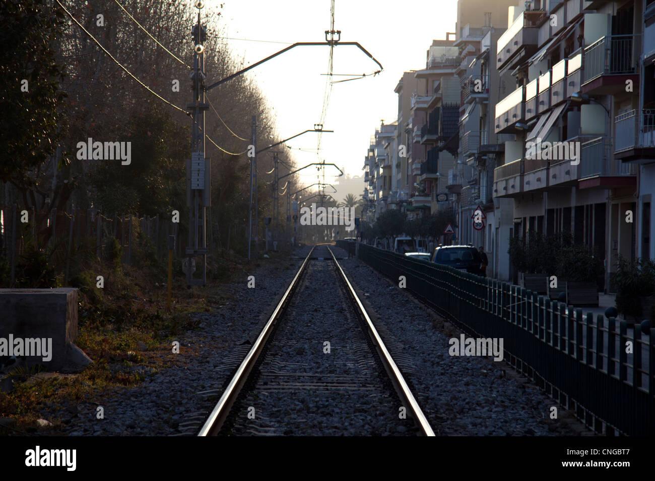 Train Lines - Stock Image