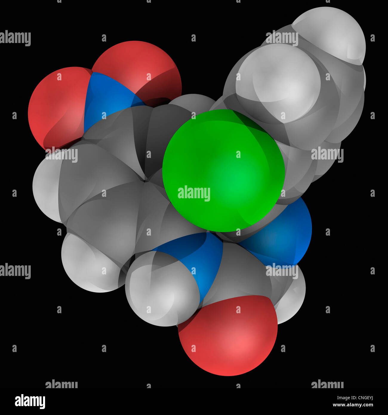Clonazepam drug molecule Stock Photo