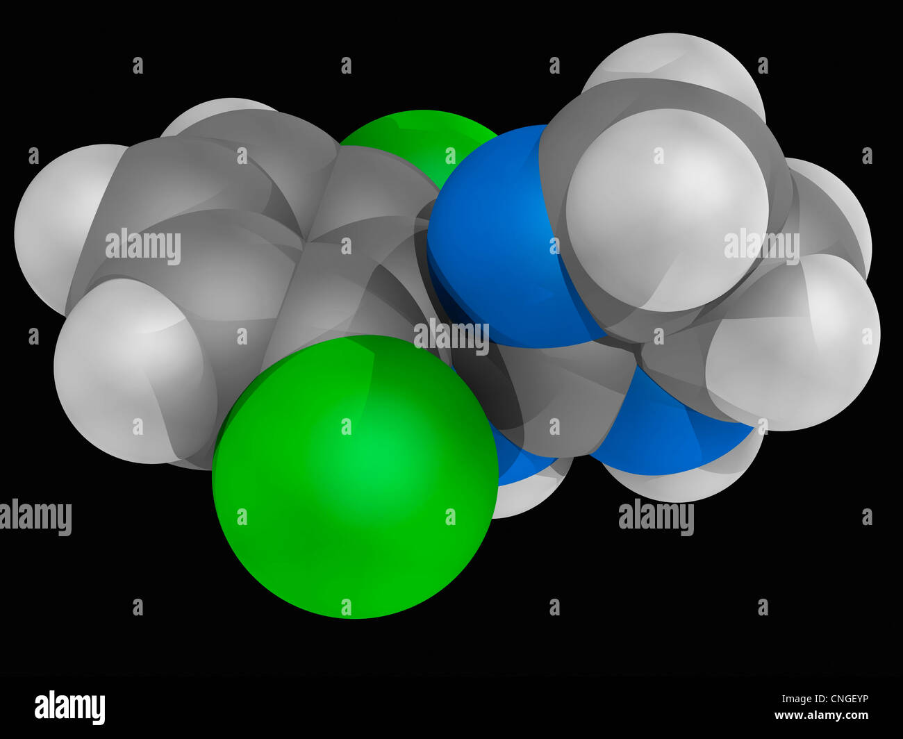 Clonidine drug molecule Stock Photo