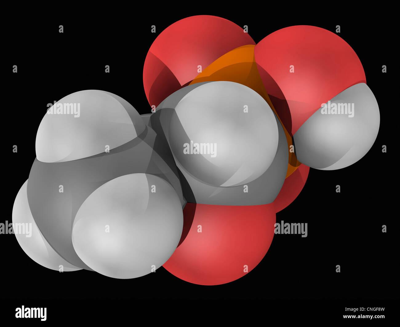 Fosfomycin drug molecule - Stock Image