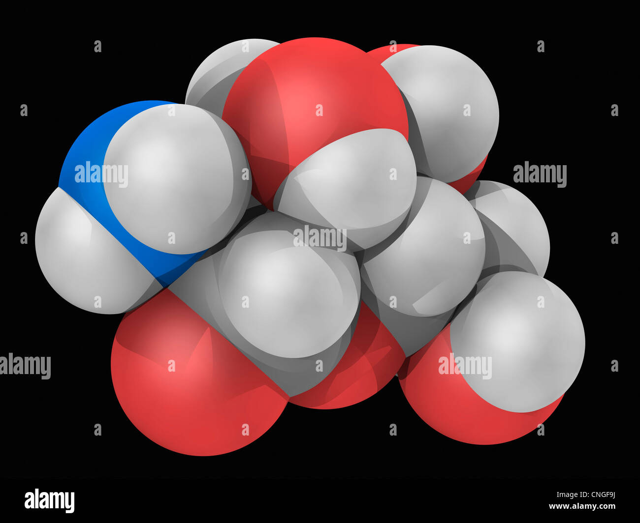 Glucosamine molecule - Stock Image