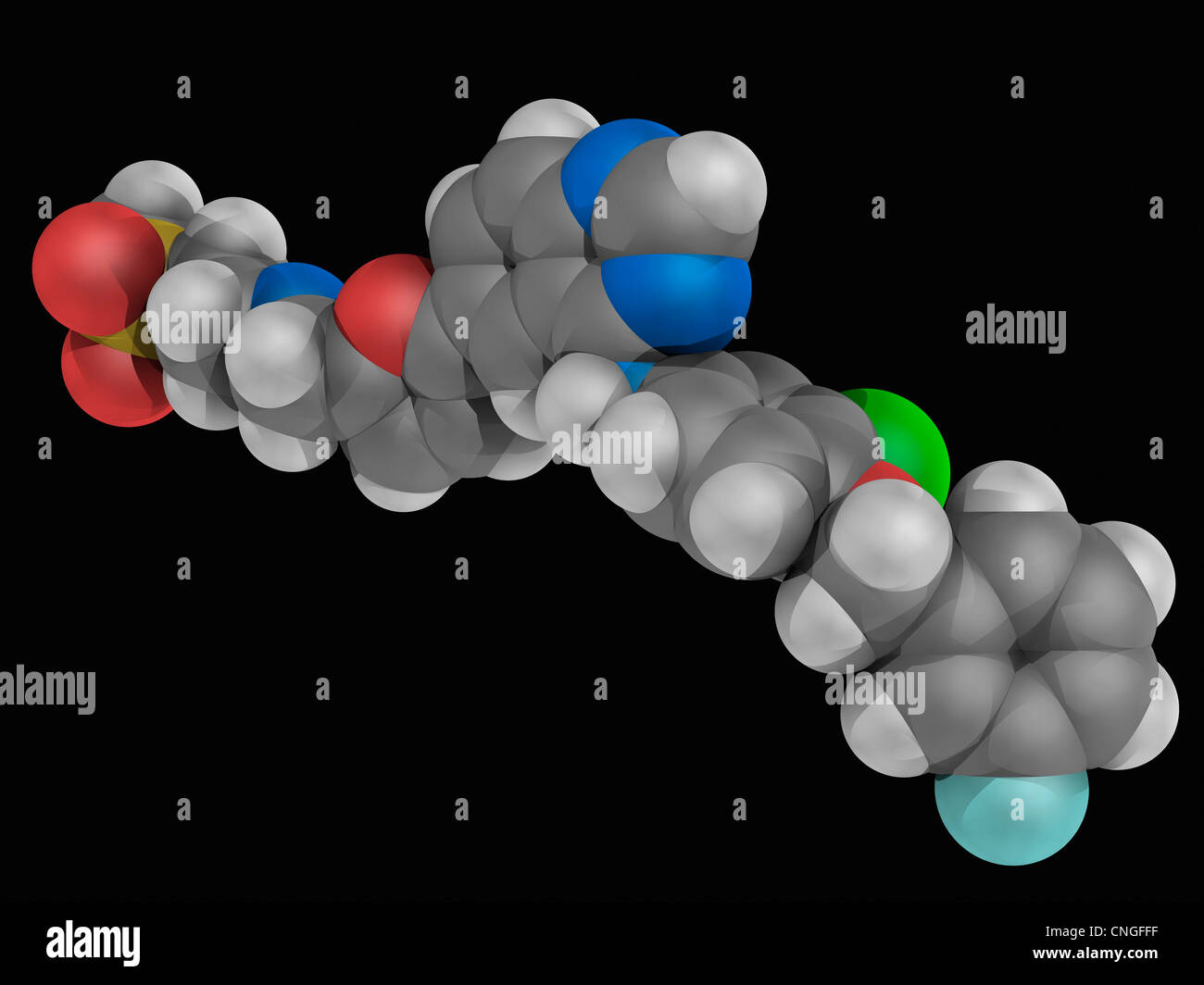 Lapatinib drug molecule Stock Photo