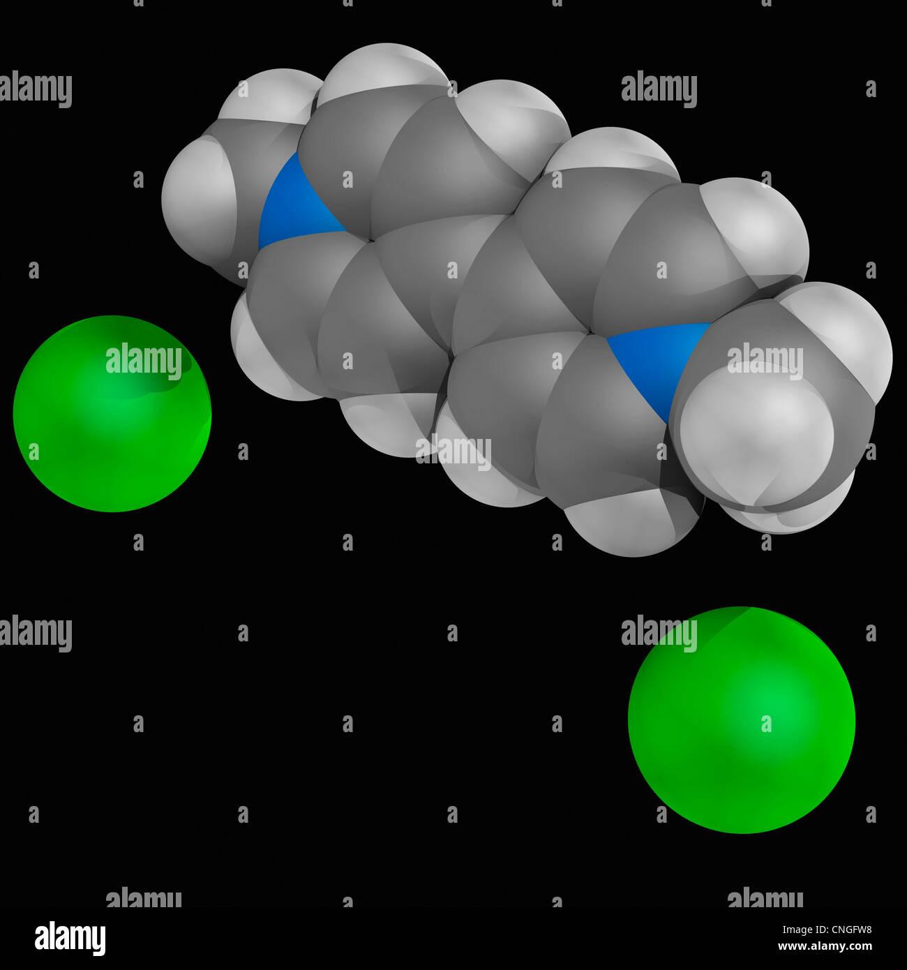 Paraquat herbicide molecule - Stock Image