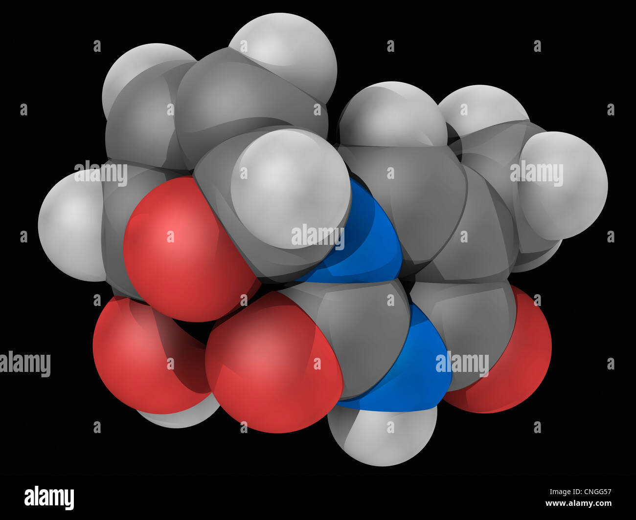 Stavudine drug molecule - Stock Image