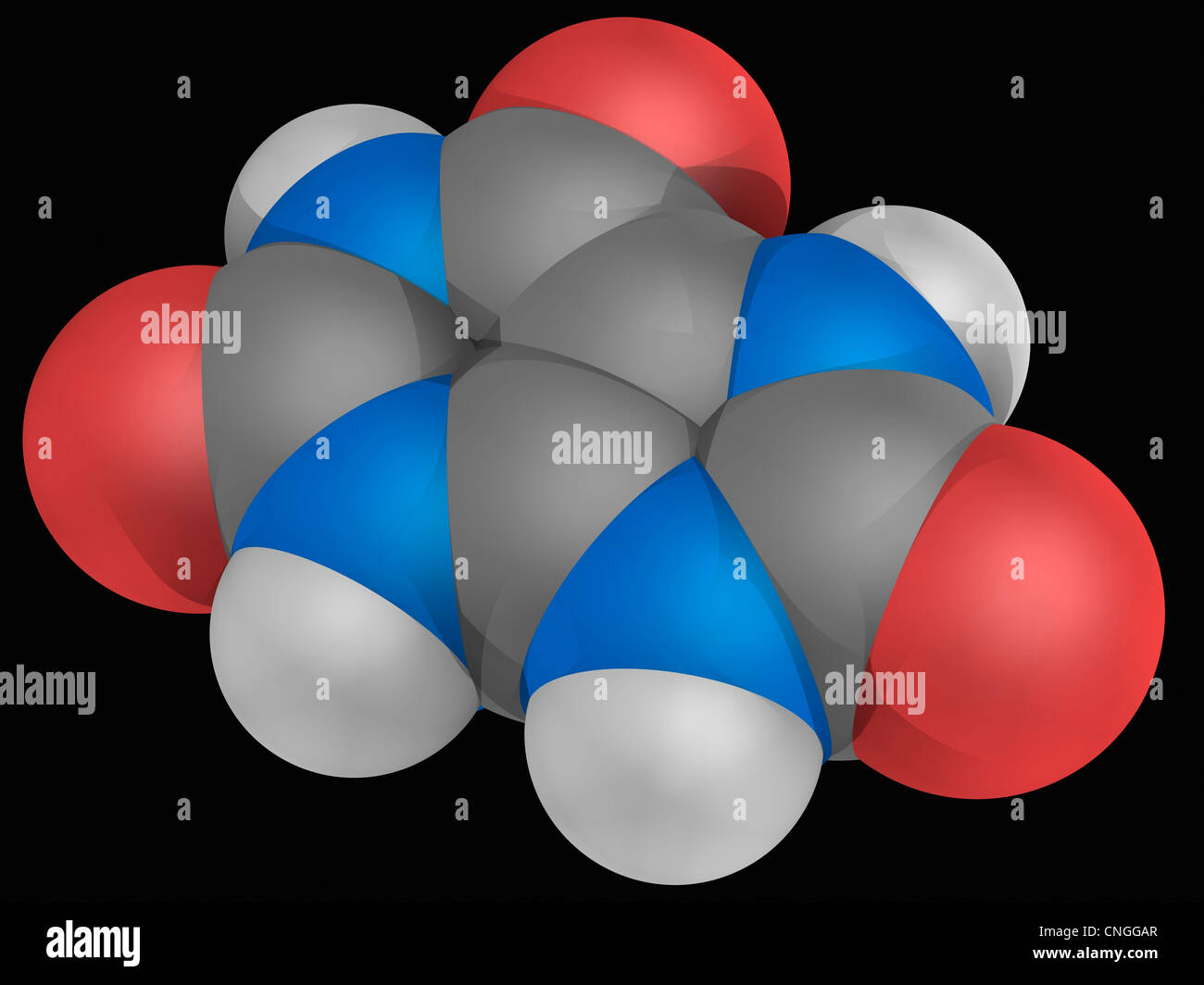Uric acid molecule - Stock Image