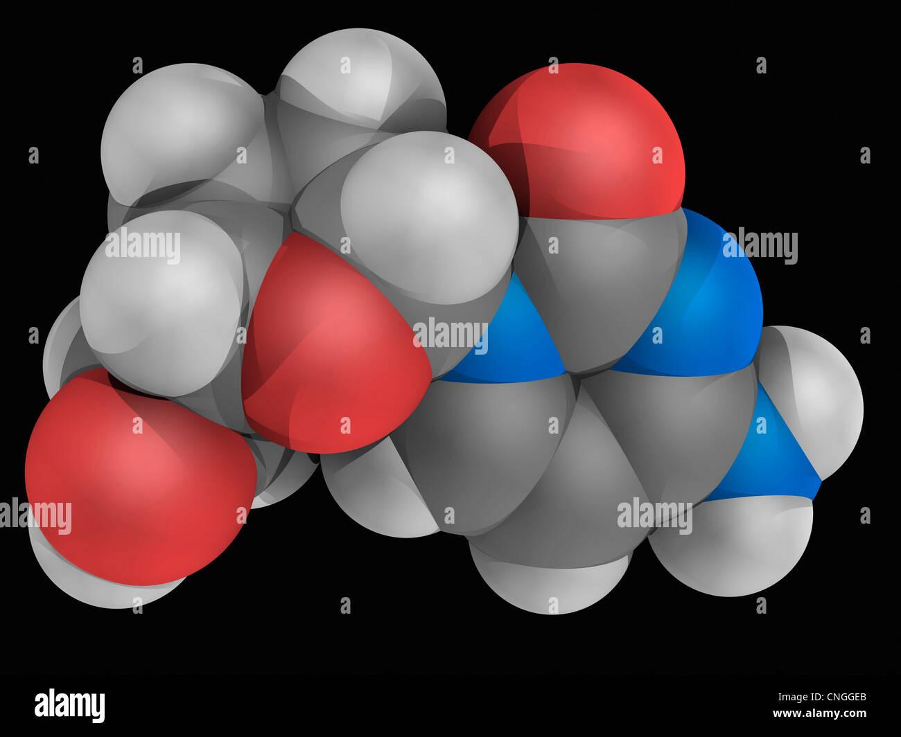 Zalcitabine drug molecule - Stock Image
