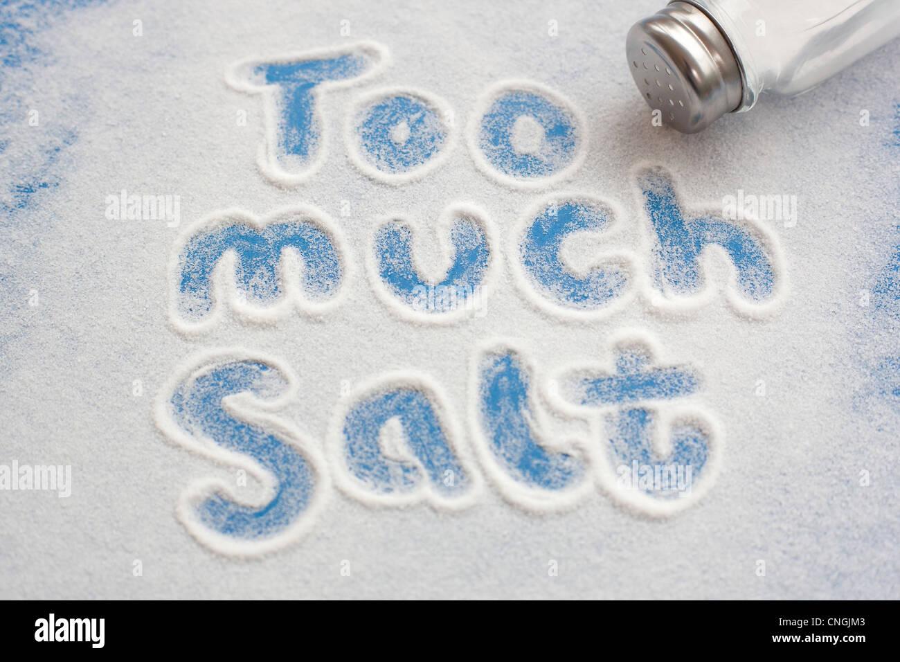 High salt intake  conceptual image - Stock Image