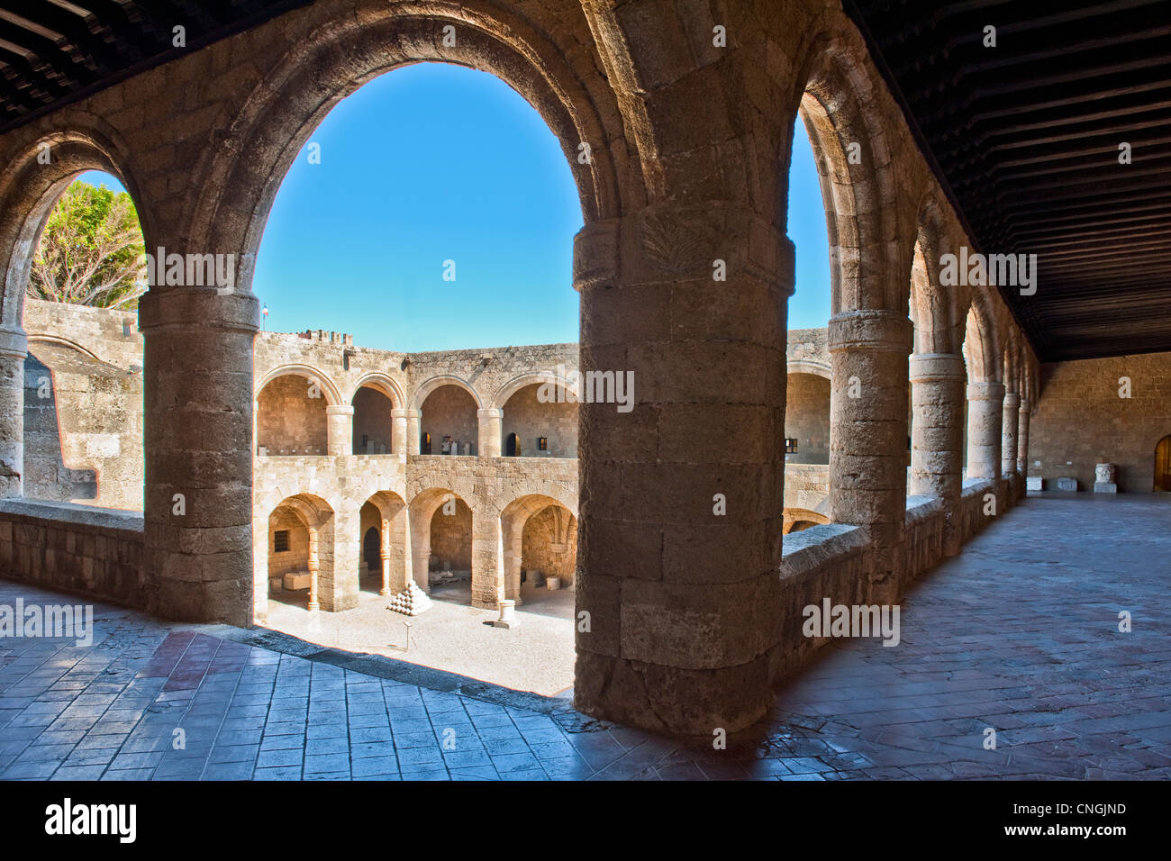 Europe Greece , Dodecanese islands , Rhodes, the former hospital of St John's Knights, museum - Stock Image