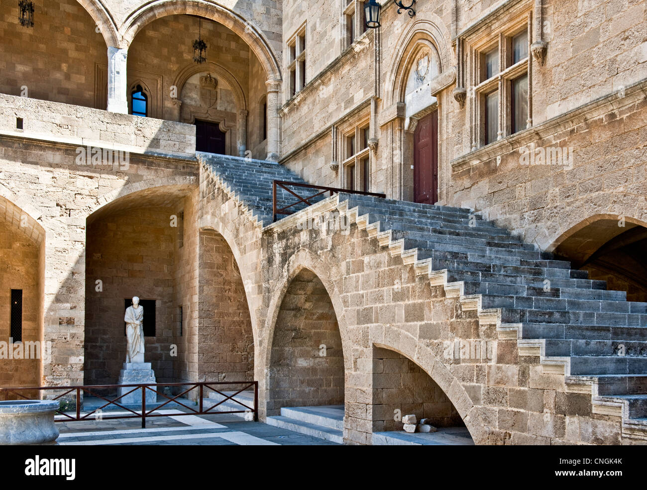 Europe Greece, Dodecanese, Rhodes, the medieval Grand Master palace Stock Photo