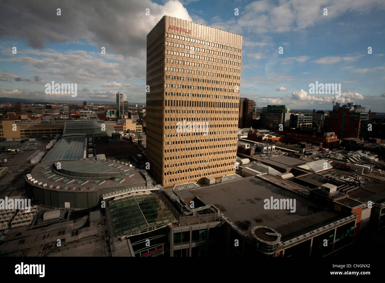 Arndale tower in Manchester - Stock Image