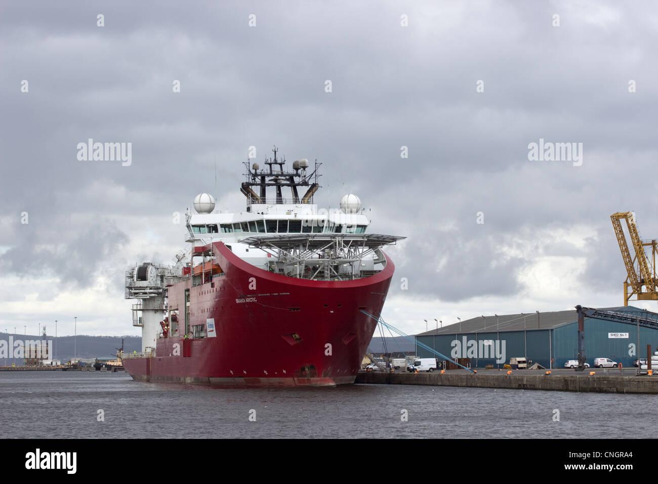 Skandi Arctic, saturation dive support vessel - Stock Image