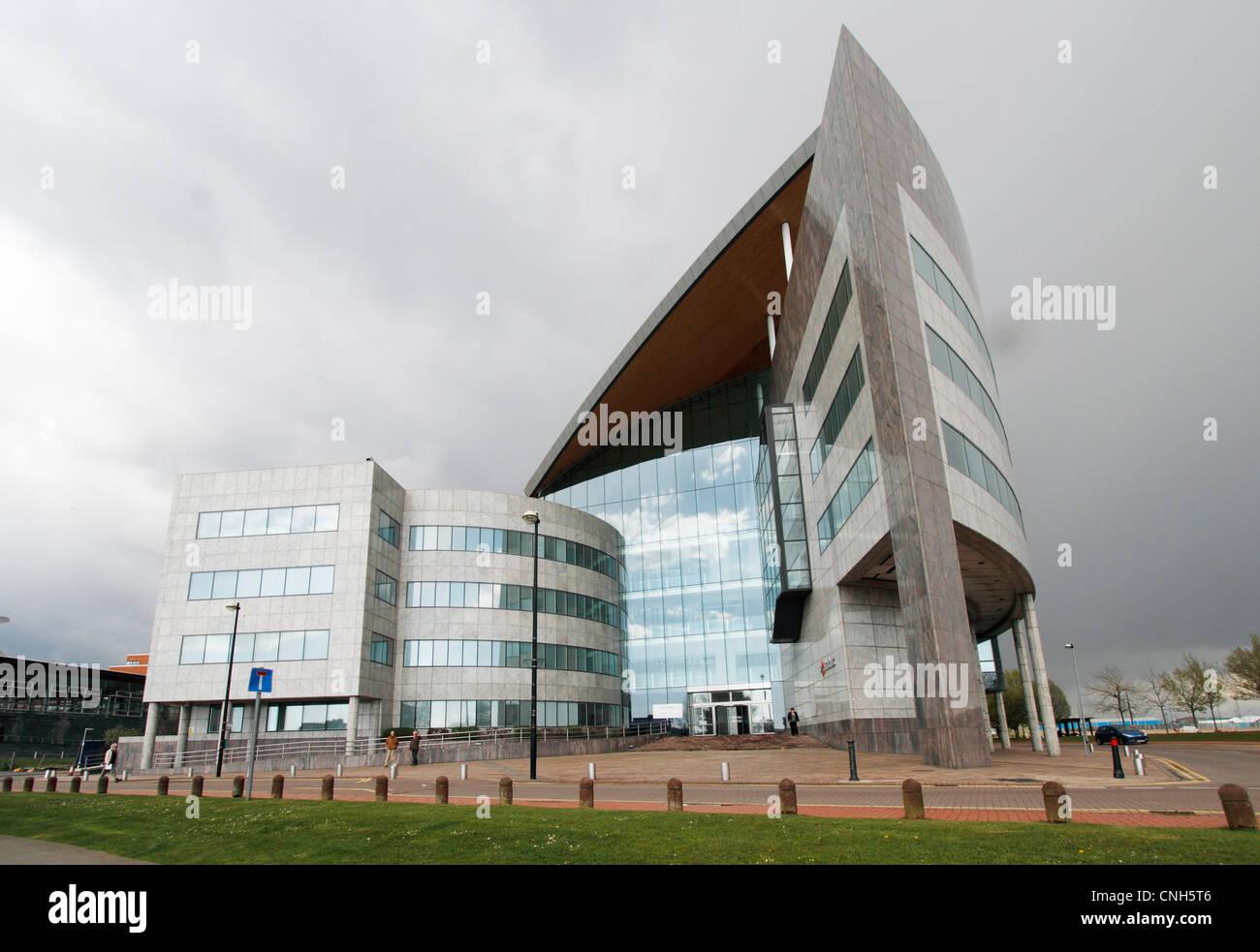 Cardiff Docks - Atradius Credit Insurers building - Stock Image