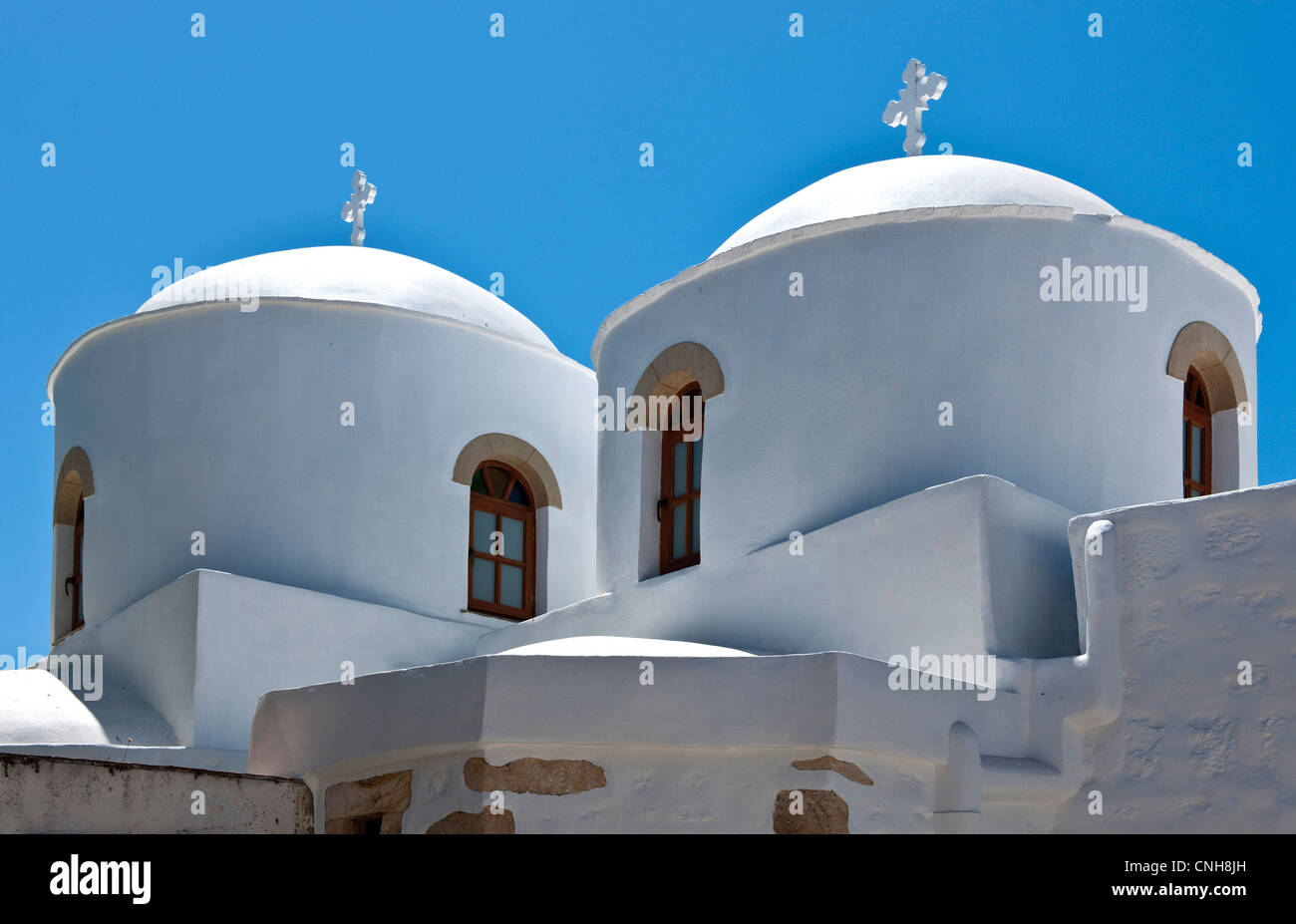 Europe Greece, Dodecanese,Patmos, the Saint John church in the Skala village - Stock Image