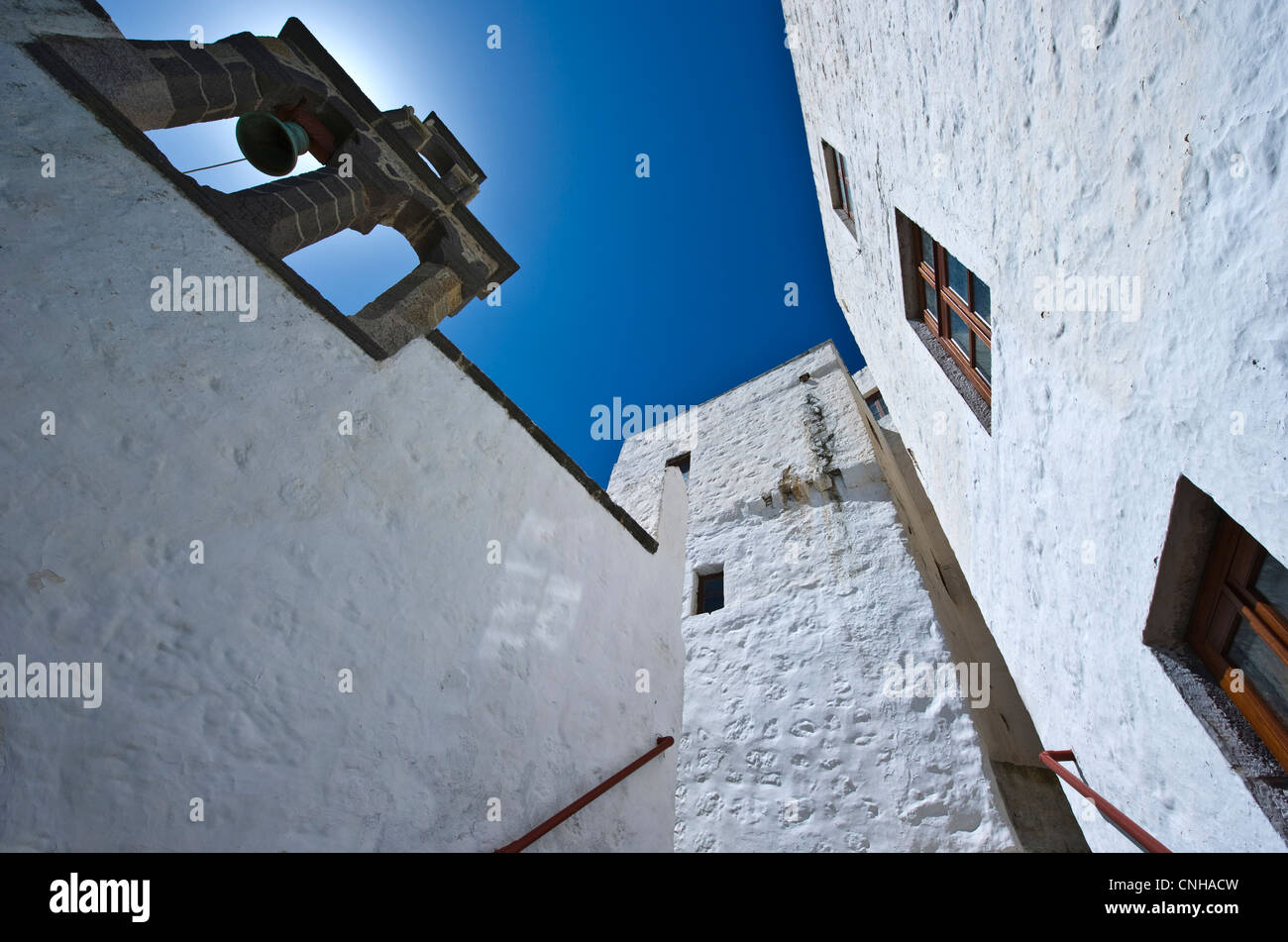 Europe Greece, Dodecanese,Patmos, the Monastry and Cave of the Apocalypsis - Stock Image